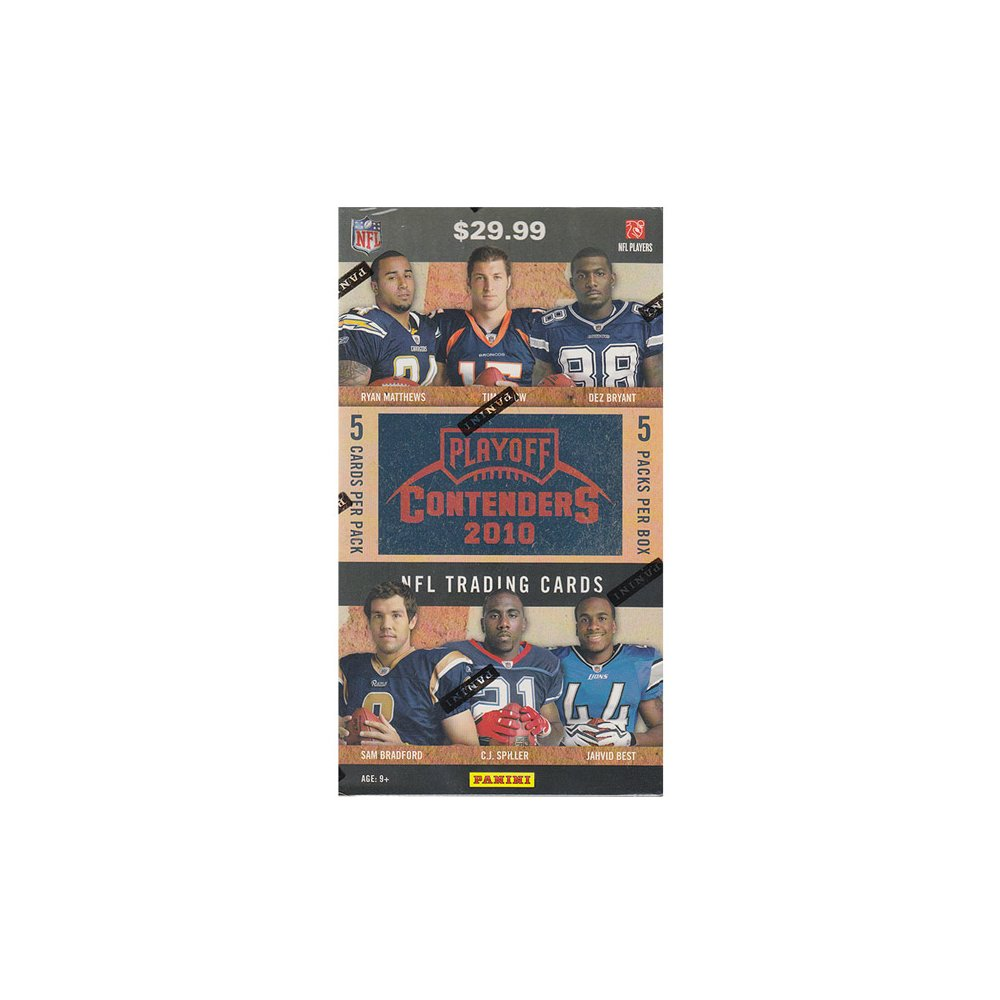 2010 PANINI PLAYOFF CONTENDERS FOOTBALL BLASTER BOX W/ 1 AUTO P