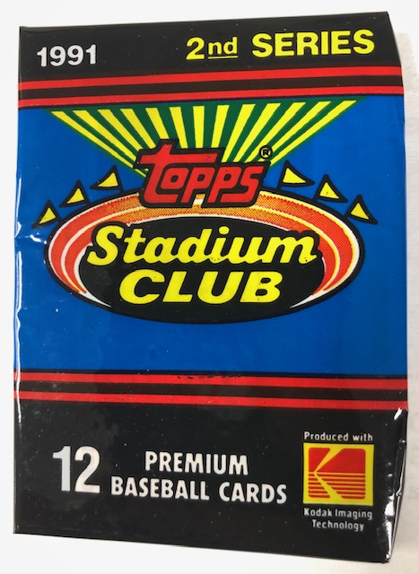 1991 STADIUM CLUB SERIES 2 BASEBALL WAX PACK