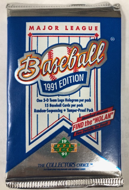 1991 UPPER DECK LOW SERIES BASEBALL WAX PACK