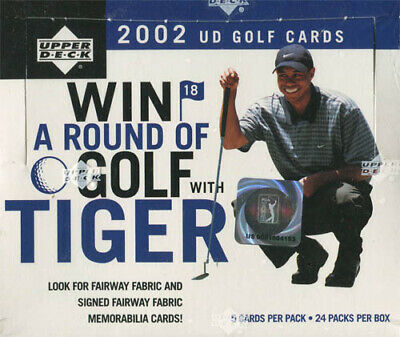 2002 UD GOLF GREEN GRASS EDITION HOBBY BOX