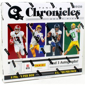 2020 PANINI CHRONICLES DRAFT PICKS COLLEGIATE FOOTBALL HOBBY BOX