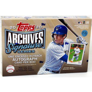 2020 TOPPS ARCHIVES SIGNATURE SERIES BASEBALL ACTIVE HOBBY BOX