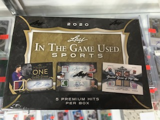 2020 LEAF IN THE GAME (ITG) GAME USED SPORTS BOX