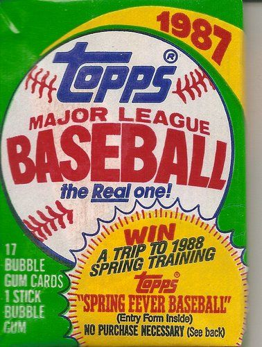 1987 TOPPS BASEBALL WAX PACK