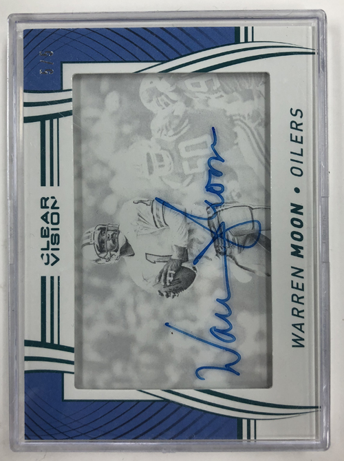 Warren Moon 2016 Panini Clear Vision Autographs Emerald #1 5/5