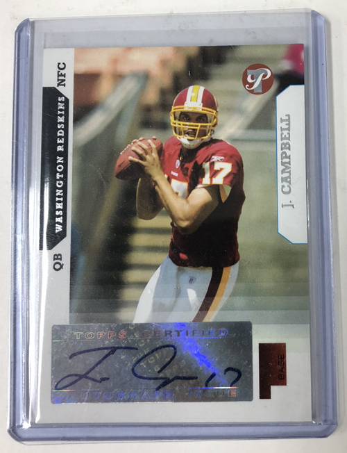 Jason Campbell 2005 Topps Pristine Autograph Rookie #161
