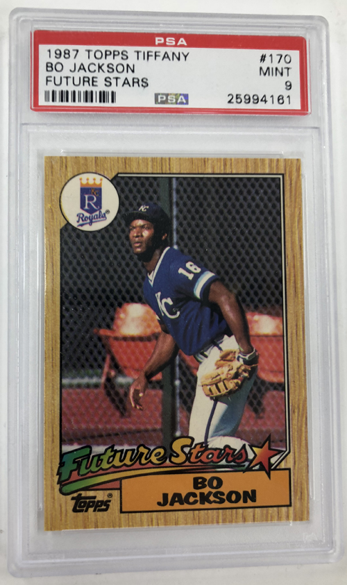 Bo Jackson 1987 Topps Tiffany 170 Psa 9 Gulf Coast Breakers