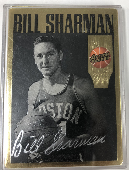 Bill Sharman 1995 Action Packed Hall of Fame Autographs #23