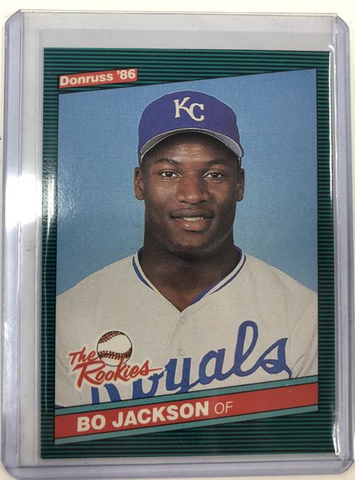 Bo Jackson 1986 Donruss Rookies 38 Xrc Gulf Coast