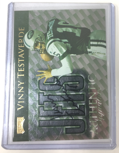 Vinny Testaverde 1999 Playoff Prestige SSD Checklists Autographs #CL21 60/250