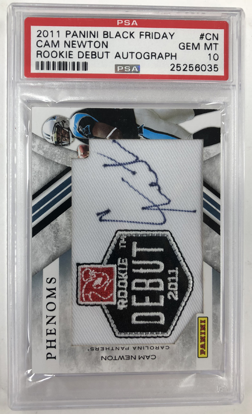 Cam Newton 2011 Panini Black Friday Autograph Patches #CN /24*